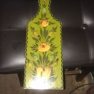 Vintage flower wall art paddle